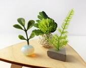 Set of 3 Miniature Vases - Modern Pop in Bright Greens