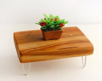 Rustic Cedar Table - Mid Century Modern Miniature