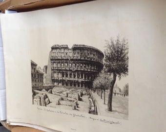 Vintage print of Roman Coliseum