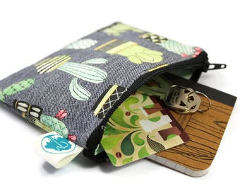 Coin Purse - Coin Bag - Change Purse - Small Cosmetic Bag - Zipper Pouch - Change Pouch