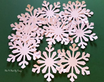 Large 2 inch Himalayan Snow flake Die Cuts,Christmas Die Cuts,Scrapbook embellishments,Christmas Decor,Christmas Table Confetti. Set of 50