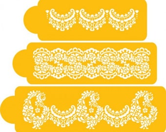 stencils for wedding cakes uk cake stencil etsy 20524