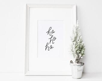 Ho ho ho Christmas printable // 8x10 print // Christmas wall art // Christmas printable