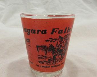 Vintage Shot Glass, Souvenir, Niagara falls, Canada, 1970's