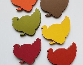 Turkey Scrap Booking Die Cut Outs ( Thanksgiving Decoration, Embellishments, etc..)