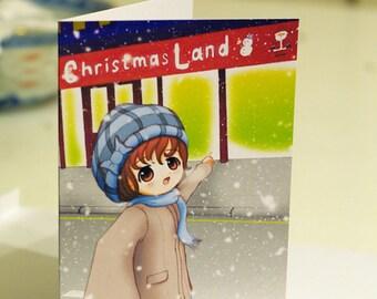 Christmas Land, Cute Christmas Card