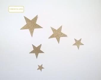 Applied fusing cloud 5 star glittery gold flex light