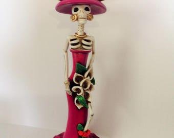 Day of the Dead Dia de los Muertos La Catrina figure figurine Decor Decoration