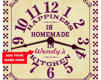 Kitchen Happiness Personalized Kitchen Clock