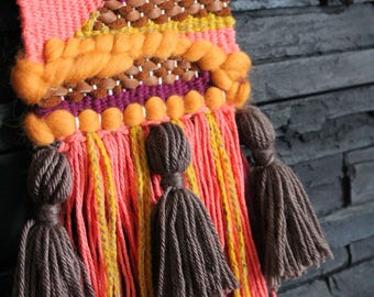 Woven Wall Hanging - Cowgirl Sunset - Ready to Ship Weaving Wall Art - One of a kind.