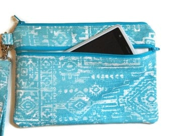 Cellphone wristlet, womens clutch, ready to ship
