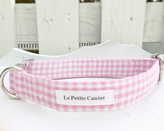 Dog Collar, Dog Collars, Dog Collar Set, Dog Leash, Pink Collar, Girl Dog, Girl Dog Collar, Girl Collar, Pink Gingham, Winn-Dixie Collar