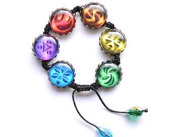 Shamballa Bracelet The Legend of Zelda Ocarina of Time Sage Medallions