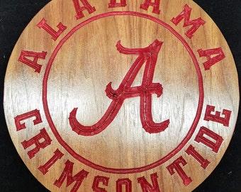 University Alabama wooden sign