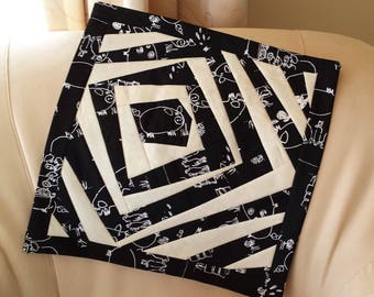 OOAK Eye-Catching Contemporary Patchwork Cushion Cover Quality Upholstery Fabrics
