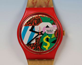 "Swatch ""collage Doré 1993 unused from collection"