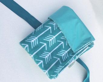 Modern Baby Waterproof Blanket, Arrow Nursery Decor