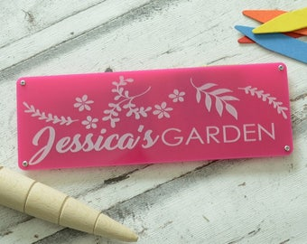 Personalised Engraved Garden Sign