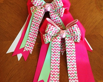 Bowdangles Horse Show Hair Bows/Lilly Inspired Equestrian clothing, chevron