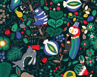 Vivid Forest Pattern Cotton Fabric by Yard