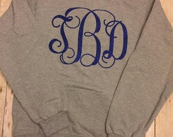 Monogram Glitter Crew Sweat