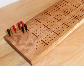 Cherry Cribbage Board