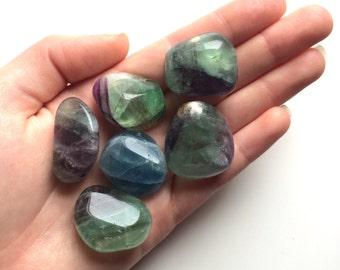 Fluorite medium tumbled stones polished