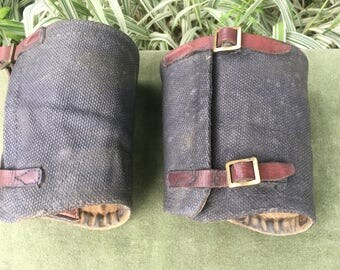 WWI Military Issue Gaiters Soldiers Ankle Gaiters