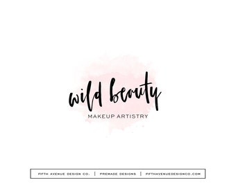 "Pre Made Logo Design - Boutique Logo - Small Business Logo - ""Wild Beauty"""