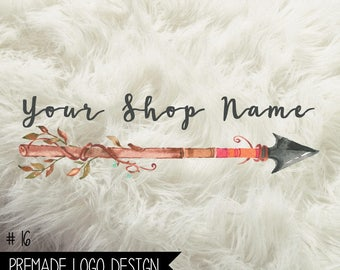 16. Premade Logo Digital File 300dpi PNG file, personalized with your shop name