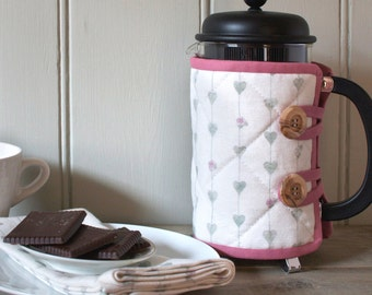 Hearts & Roses Cafetiere Cosy
