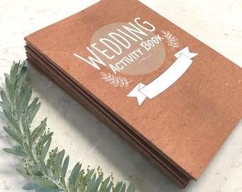 12 Pack- Kid's Wedding Activity Booklets , Children's Wedding activity books.