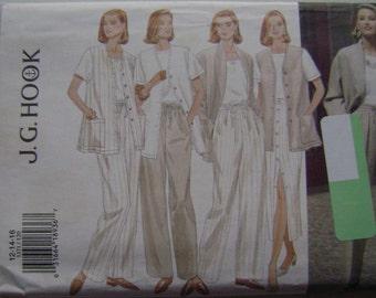 VINTAGE Butterick Pattern B3371 Misses' Jacket, Vest, Skirt & Pants
