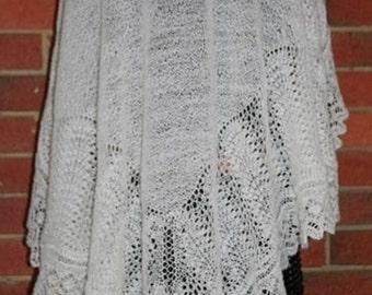 Shetland Christening baby shawl.2 ply Merino wool. NEW Heirloom