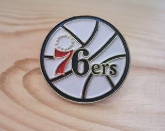 Vintage Philadelphia 76ers 1989 NBA Lapel/ Hat Pin
