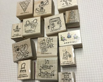 Girlie Girl Stamps - Lot of 14 - Different Stamps!