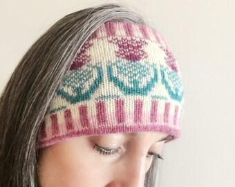 Scottish Knitted Fair Isle Headband