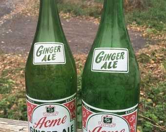 Collectible Bottles, Vintage Bottles, Acme Beverages Bottle, Vintage Soda Bottles, Glass Bottles, Pop Bottles, Soda Pop, Acme Collectibles