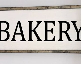 Bakery sign, Bakery wall decor, Bakery kitchen sign