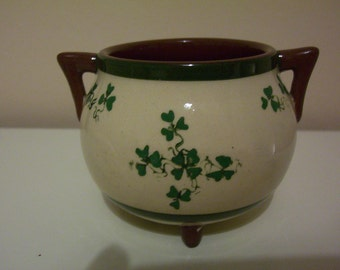 Vintage Carrig Ware Pottery Cauldron. Carrigaline Pottery 1928-1979. Made in Ireland