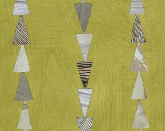 Moss Stripe Cotton Woven, Dreamer by Carrie Bloomston for Windham Fabrics
