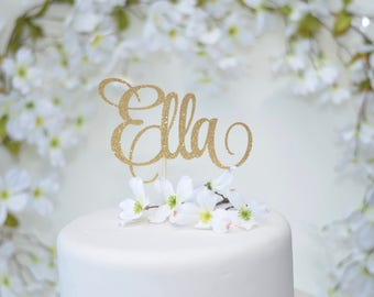 Name Cake Topper - Custom Name Cake Topper - Personalized Cake Topper