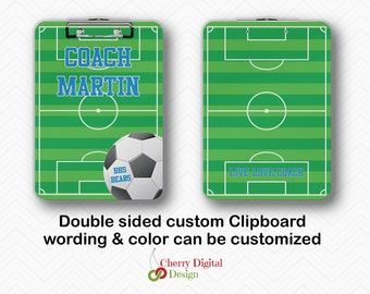 Personalized Double Sided Soccer Coach Clipboards | Dry Erase Sports Clipboard Gifts