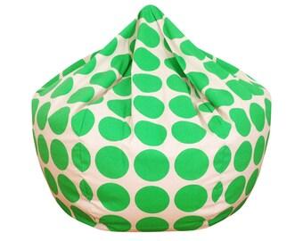 Green Dot Bean Bag Chair