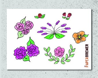 Floral Decoration Planner Stickers