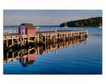 """Lunenburg Harbour 4""""x6"""" Metallic Print in a 5""""x7"""" matt and ready for you to put in a frame of your choice"""