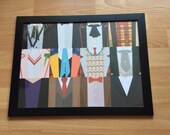 Dr Who 12 Doctors framed wall art pictures