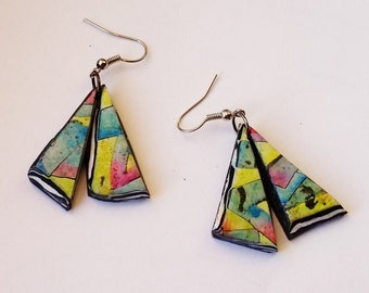 """Earrings, """"Scent of Spring... """", polymer clay, unique, handmade, original design"""