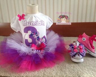 My little Pony Twilight Sparkle tutu,My little pony tutu, my little pony birthday outfit, my little pony tutu set.