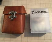 Leather Deck Box with Clasp